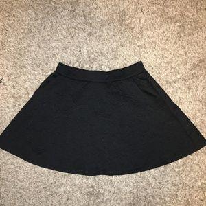Black Flower Mini Skirt (M)